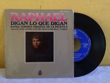 "RAPHAEL -TEMA DE AMOR / DIGAN LO QUE DIGAN- 1969 SPANISH 7"" EP PS"