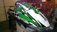 kawasaki 650 sx jet ski wrap graphics pwc stand up jetski decal kit racing green