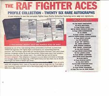THE R.A.F. FIGHTER ACES COLLECTION; PROFILE COLLECTION 27 RARE SIGNINGS + C.O.A.