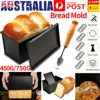 Non-stick Toast Box Kitchen Bread Cutter Baking Tin Pan Mould Cake Mold Lid Tool