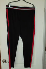 """Forever 21 Athletic Pants 2X 20W black stretch 29"""" inseam Exercise Activewear"""