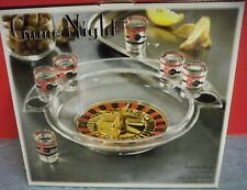 Game Night Roulette Drinking Game In Original Box Glass Shot Glasses Complete
