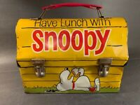 Vintage 1968 Have Lunch With Snoopy Domed Lunchbox No Thermos