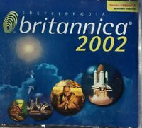 encyclopedia britannica 2002 Dlx Edition PC CD-3 Disc Set-TESTED-RARE-SHIPS N 24