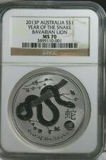 2013 Australia Year of Snake  Bavarian Lion 1 MS70 NGC