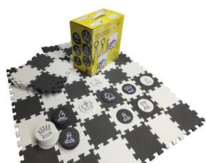 SchachQueen - Schach und Dame für Garten oder Terrasse, schwarz/weiß