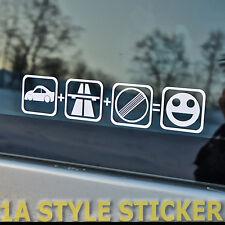 Auto Autobahn kein Limit Unbegrenzt Fun Sticker top Speed Getriebe Übersetzung