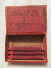 3 Vintage American Old Faithful Crayons in Original Box Soft Red Never Used