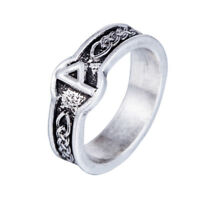 Vintage Tibetan Silver Ring Celtic Norse Runes Wugjo Ring for Men Germanic