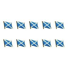 "LOT OF 10 SCOTLAND FLAG LAPEL PINS 0.5"" St Andrews Cross Saltire Tie Tack Badge"
