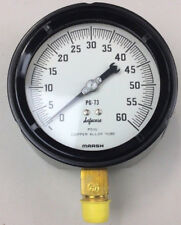 0 60 Psi Pressure Gauge 4 12 Face 12 Threaded Connection New