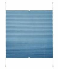 Klemmfix Plissee Licht & Sichtschutz mittel blau Antill Crush Optik 40 - 120 cm