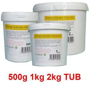 Self Indicating Silica Gel Desiccant 2-5mm Beads - 500g 1kg 2kg - Flower Drying