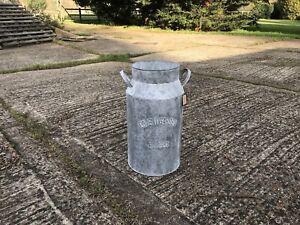 Zinc Garden Planter Milk Churn Plant Pot Galvanized Mulberry Tree Design