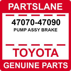 47070-47090 Toyota OEM Genuine PUMP ASSY BRAKE