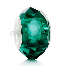 5PCs Teal Malachite Green Wholesale European Large Hole Beads For Bracelets