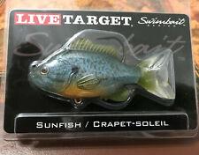 """"" LIVE TARGET SUNFISH/CRAPPIE 3 1/2""--1/2 oz  Swimbait """" lifelike fishing lure"