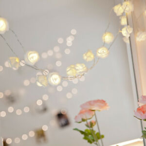 Rose Flower Wedding Party Garden Christmas Decor Xmas String Lights W