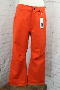 Volcom Carbon Shell Snowboard Pants, Men's Small, Orange New