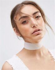 Choker Velvet Choker White Fabric Necklace 90s Retro Vintage Gothic Stock in US