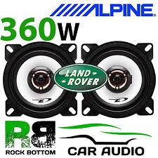 "ALPINE Land Rover Defender 110 4"" 10cm 2 way 360W Dash Replacement Coax Speakers"