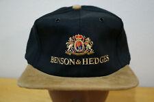 Vintage 90's BENSON HEDGES Cigarettes Snapback Trucker Hat Black Excellent