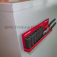 """New KING 11"""" Magnetic Socket Tray Holder, Organize Hardware & Tool Durable Steel"""