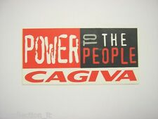 VECCHIO ADESIVO MOTO /Old Sticker CAGIVA ELEFANT POWER (cm 12x6) paninaro