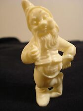 Collectable Fontanini Gnome by Depose Italy: Winter White Color