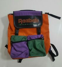 Vintage 80's Reebok International Leather Backpack VTG