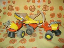 Vintage 60s Ancienne PAIRE de PATINS ROULETTES GERMINA REGLABLE Roller Skates