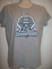 WOMENS~SILVER~GRAY~LOGO~NYY~NEW YORK~YANKEES~SHIRT~M~MEDIUM~MAJESTIC~SERIES~2009