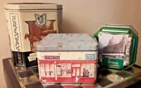 Trio of Vintage Advertising/Storage Tins/Containers Ringtons, Lyons & Harrods GC