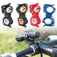 Bicycle Flashlight Holder Clip Clamp For LED Head Light Lamp Torch Rotatable