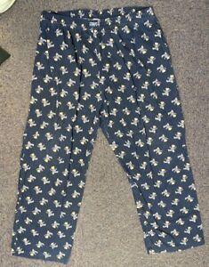 VINTAGE Polo Bear by Ralph Lauren Pajama Pants Mens X-Large Cotton - Blue