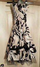 Brand New: West One White & Black Flower Print Boobtube Top  Dress Size 8 (S/M)