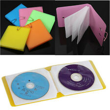 12 Plastic CD DVD Disc Double Sleeve Holder Clear Storage Case Bag Package