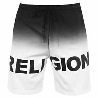 Mens Religion Shorts Fleece Cotton New