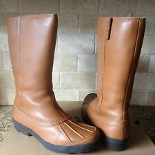 UGG BELFAIR CHESTNUT TALL WATERPROOF LEATHER DUCK RAIN SNOW BOOTS US 9 WOMENS