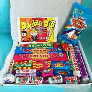 Pic N Mix Sweet Gift Box Retro Lockdown Personalised Candy Birthday Hamper
