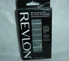 Revlon*Nail Art*3D Jewel Appliques~18 Denim&Diamonds~#05 Star-Studded~New~Boxed