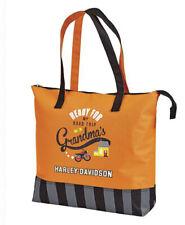 Harley-Davidson Kids Road Trip to Grandma's Orange Travel Tote 99845-Rust/Black