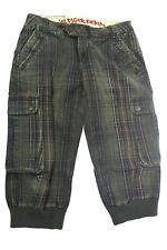 Tommy Hilfiger Denim Nikita Check Pant 3/4 Damenhose W31 Deep Olive Sand Washed
