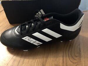 Paul Mc Grath Signed Adidas Football Boot Aston Villa Manchester United Ireland