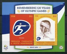 Grenadines Grenada 2016 MNH Olympic Games Rio 2016 2v SS Fencing Olympics Stamps