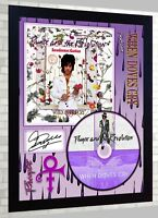 Prince FRAMED PHOTO Poster CD Disc When Doves Cry 17 Days Purple Rain