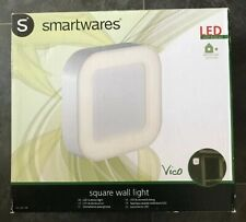 Smartwares Vico White LED Square Wall Light.Indoor/ Outdoor Warm White