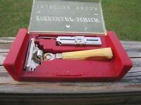 Schick Injector Type G 1946-1955 SE Safety Razor Gold & Silver  w/Original Case