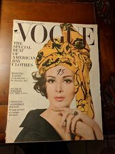 Vintage Vogue Magazine February,1963The Special Beat of American Day Clothes