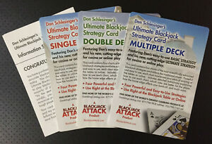 Blackjack Basic Strategy Cards by Don Schlesinger (Complete Set) - FREE SHIPPING